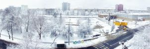 Hometown panorama covered in snow by ale2xan2dra
