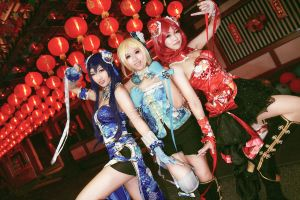 Love Live! - Awaken Qipao Umi x Eli x Maki by Xeno-Photography