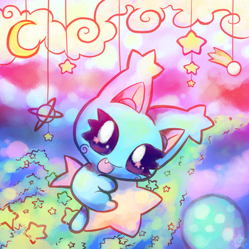 Playing with the Stars by crayon-chewer