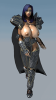 Lich Queen-Fk Gif (New Armor) by forcisknight