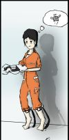 Lonely, lonely chell by Khan-the-cake-lover