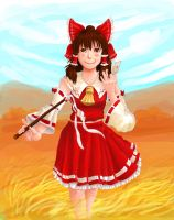 Art Trade: Reimu for NekoSasukeGirl by ApplejackMan