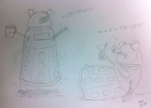 Dalek Sketch by AbsoluteApril