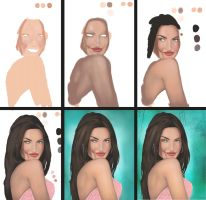 MEGAN FOX PROCESS by travellingthecosmos