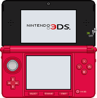 Nintendo 3DS [Metallic Red] by BLUEamnesiac