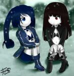 Black Rock Shooter and Black Gold Saw by FacundoLeites