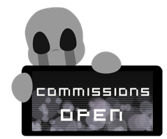 Dead Child Commissions OPEN Stamp by Ink-cartoon