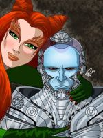 Mr. Freeze and Poison Ivy by AndyManley3
