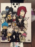 Soul Eater Groupe Canvas Painting (LAST PART) by SoulEaterLover123123