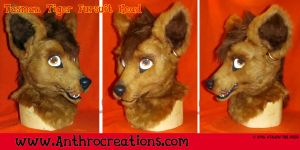 Tasman Tiger Fursuit Head 3D Eyes Moveable Jaw by AtalontheDeer