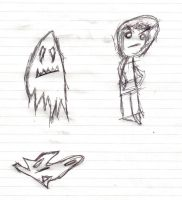 Ghost and a guy by Gibson-the-mallrat