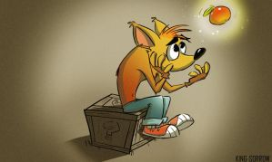 Crash bandicoot waiting by KING-SORROW