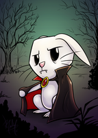 Vampire Angel Bunny by Droakir