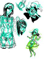 Alice Madness Returns doodles by Disimprison