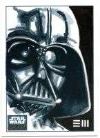Darth Vader - SWG6 Sketch Card by Erik-Maell