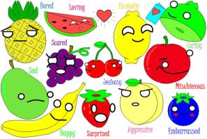 Fruits: Emotions and Moods by hoity-toity-holiday