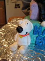 Family Guy Cake Detail Brian by Keep-It-Sweet