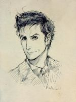 David Tennant by inklou