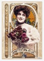 Evelyn Nesbit - Art Nouveau II American Eve by jdesigns79