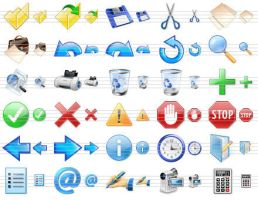 Perfect Toolbar Icons by shockvideoee