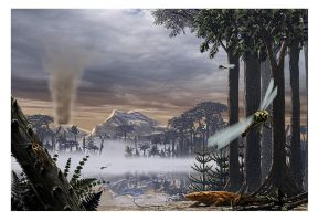 Carboniferous landscape by dustdevil