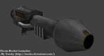 Doom Rocket Launcher 3D model view by Treeko