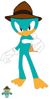 Agent P Sonic Style by pepsiboy3