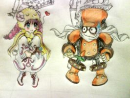Junk Synchron and Pikeru by darkmagicianLucy