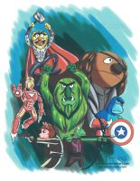 Muppet Avengers by lizstaley