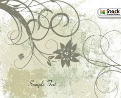 Free Vector Grunge Floral Background by Stockgraphicdesigns