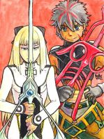 Sketchcard PXZ Toma and Cyrille by fedde
