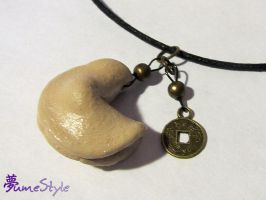 Fortune Cookie Necklace by Sarinilli