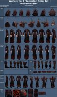Warlock Tier 5 [Corruptor Raiment] Reference Sheet by AWorger