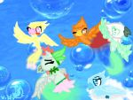 Having fun floating on bubbles by Cuddle600