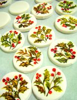 hand painted gum paste discs by alcat2021