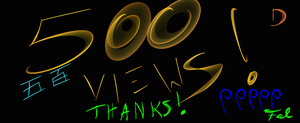 Thanks for 500 pageviews by TheSkyWolves