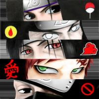 Naruto: Ninja Eyes and symbols by v2-6