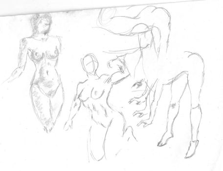 Sketches on Practice Paper by RebelBMW