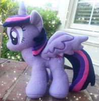 Twilight Sparkle Plush w/ Detachable Wings by MintyStitch