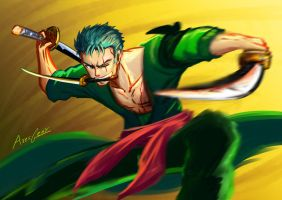 Day 1: Roronoa Zoro, Pirate Hunter by Gears-of-Rain