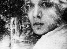 self portrait with cat II. by skateishh