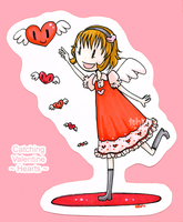 Catching Valentine Hearts by tea-bug