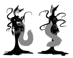 Shadowsona Auction - The Masked Kitsune by ShadowInkAdopts