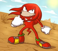 Knuckles the Echidna by copyofA