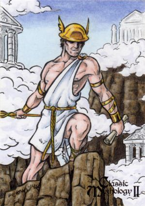 Hermes Sketch Card - Classic Mythology II