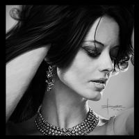 Portrait of Dijana Dejanovic by S-A--K-I