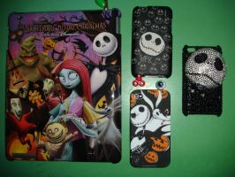 My Jack Skellington ipod cases by BatPumpkin