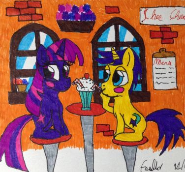 Twilight and Comet's date by Frollo7797