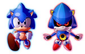 Sonic vs Metal Sonic by Zoiby
