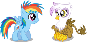 Dashie and Gilda by MacTavish1996